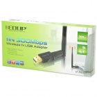Adaptador de red EDUP EP-MS1537 100mW 2.4GHz 300Mbps 802.11b / g / n WLAN USB Wi-Fi
