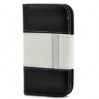 Flip-Open Protective PU Leather Cover w/ Back Case for Samsung Galaxy S3 i9300 - White + Black