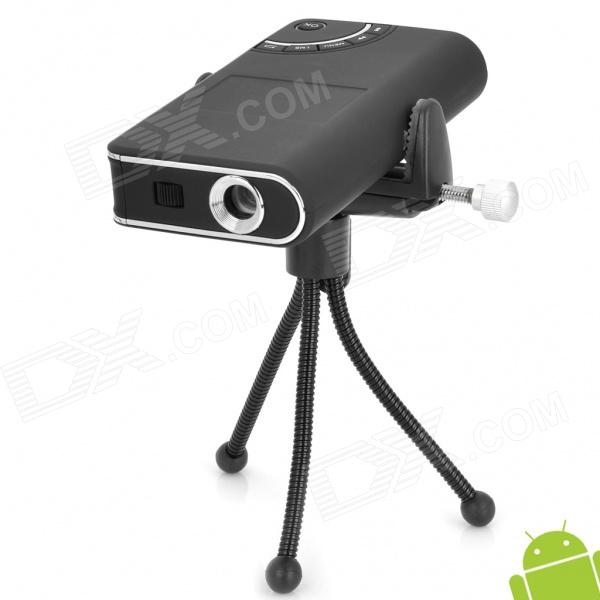 Smart Mini Rechargeable Android 2.1 Multi-Media Player Projector w/ Wi-Fi / TF - Black