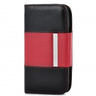 Flip-Open Protective PU Leather Cover w/ Back Case for Samsung Galaxy S3 i9300 - Red + Black