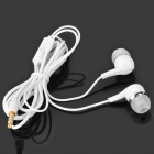Stylish In-Ear Earphone w/ Microphone for Samsung Galaxy Note 10.1 GT-N8000 / P5100 / P3100 - White