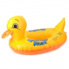 Cartoon Duck Style Kids Baby Swim Seat Swim Ring Inflatable Lifebelt - Yellow + Orange