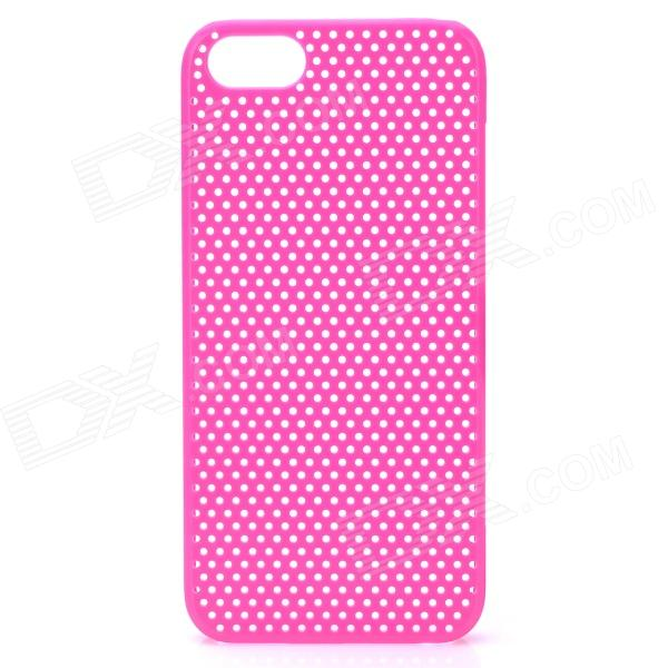 Protective Net Style ABS Back Case for Iphone 5 - Deep Pink raindrop pattern protective abs back case for iphone 5 transparent deep pink orange