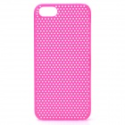 Protective Net Style ABS Back Case for Iphone 5 - Deep Pink