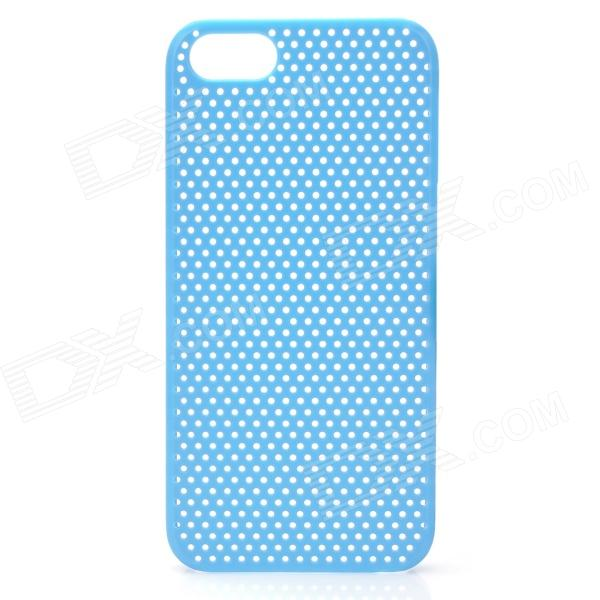 Protective Net Style ABS Back Case for Iphone 5 - Light Blue cute girl pattern protective rhinestone decoration back case for iphone 5 light pink light blue