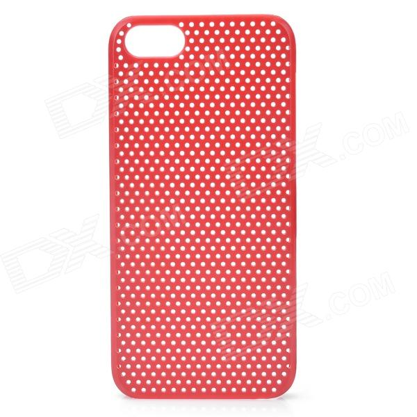 Protective Net Style ABS Back Case for Iphone 5 - Red elegance tpu pc hybrid back case with kickstand for iphone 7 plus 5 5 inch red