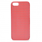 Protective Net Style ABS Back Case for Iphone 5 - Red