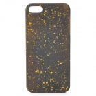 Protective Matte ABS Back Case with Dots for iPhone 5 - Black + Yellow