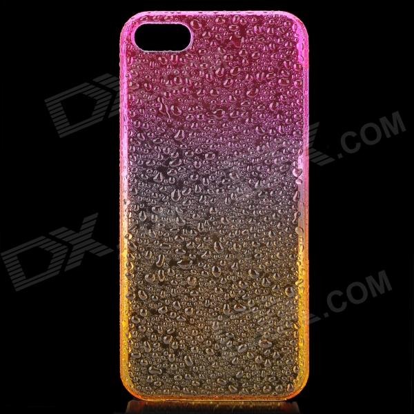 Raindrop Pattern Protective ABS Back Case for Iphone 5 - Transparent Deep Pink + Orange pickogen he 077 uv fisheye macro wide angle camera lens with led for iphone samsung pink