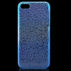 Raindrop Pattern Protective ABS Back Case for Iphone 5 - Transparent Blue