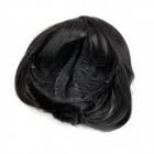 9974A 2# Fashion Lady's Diagonal Bangs Short Natural Straight Hair Wig - Natural Black