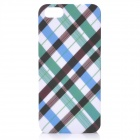 Grid Pattern Protective ABS zurück Fall für iPhone 5 - White + Black + Blue + Green