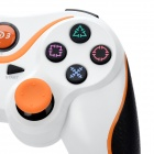 Dualshock Wireless Bluetooth V3.0 Controller for Sony PS3 PlayStation 3 - White + Orange