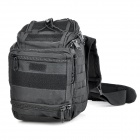800D Nylon Outdoor Alpinismo Camping Chest / Shoulder Bag- Black