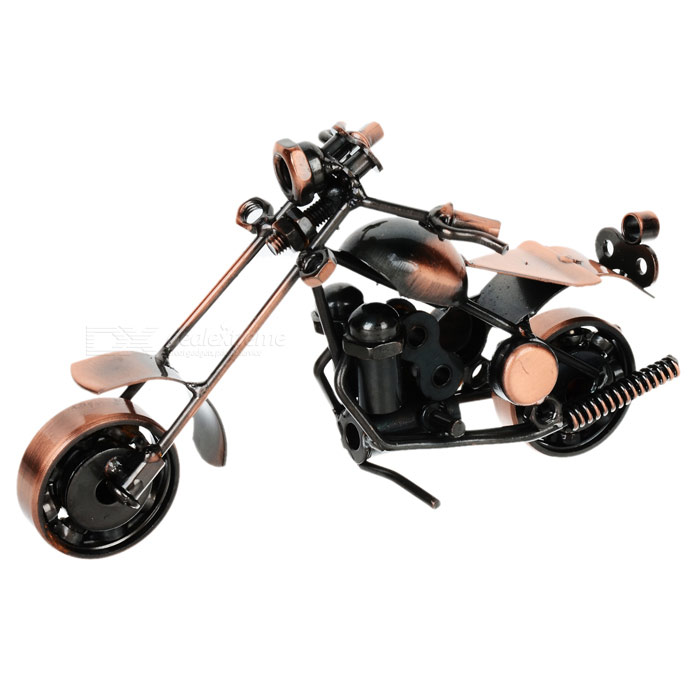 Creative Craft Iron Motorcycle Modell - Bronze