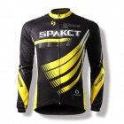 Spakct Shadow Bicycle Cycling Long Sleeves Jersey - Black + Yellow (Size-XL)
