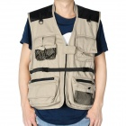 Fashionable Cotton Photography Vest - Khaki (Size XXL)
