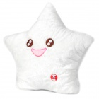 Lovely Smiling Star Pattern Seven Color Changing LED Thrown Pillow - White (3 x AA)