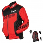 Scoyco JK28-L Multi-function Motorcycle Riding Protection Jacket Set - Red + Black (Size L)
