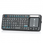 3-in-1 Multifunction Mini Rechargeable Bluetooth 72-Key Wireless Keyboard - Black
