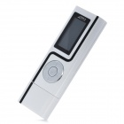 "XP9141 Rechargeable 1.1"" LED MP3 Player w/ FM Radio / Recorder - White (4GB)"