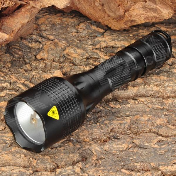 New-CK36 Recoil 250lm 3-Mode White Light Flashlight - Black (1 x 18650)
