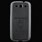 Ultra-thin Protective Plastic Case for Samsung i9300 Galaxy S3 - Transparent