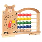 Cute Bear Pattern Baby Wooden Calculating Shelf - Multicolored