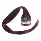 Real Human Straight Fusion Hair Extensions - Dark Purple (56cm / 200 Bundles)