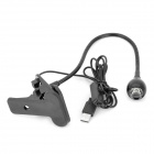 95lm White Light USB LED lampa w / Spínač / Clip - Black (DC 5V)
