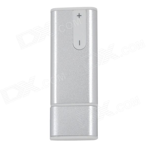 USB 2.0 Rechargeable Flash Drive Voice Recorder - Silver (8GB)