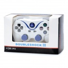 Dualshock Wireless Bluetooth V3.0 Controller para Sony PS3 PlayStation 3 - Branco + Azul