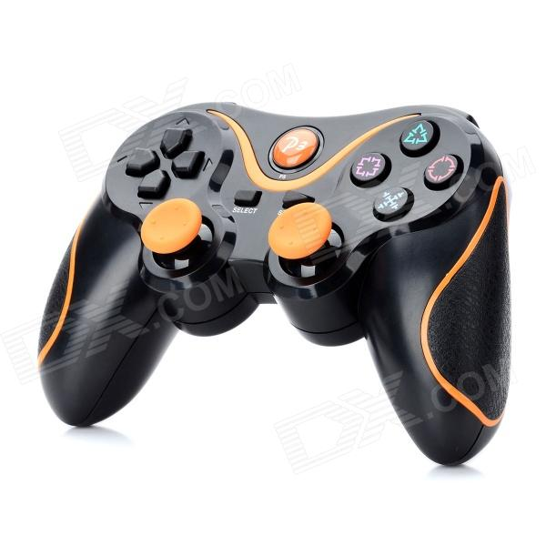 Dualshock Wireless Bluetooth V3.0 Controller for Sony PS3 PlayStation 3 - Black + Orange