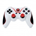 Dualshock Bluetooth Wireless Controller V3.0 para Sony PS3 PlayStation 3 - Blanco + Rojo