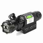 Zinc Alloy Green Dot Laser Sight Scope w/ Gun Mount - Black (1 x CR123A)
