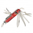 Beijing Opera Facial Masks Style 12-in-1 Stainless Steel Multi-Function Knife - Red + Silver