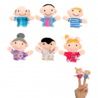 Cute Family Members Figure Dolls Finger Puppets Plush Toys (6 PCS)
