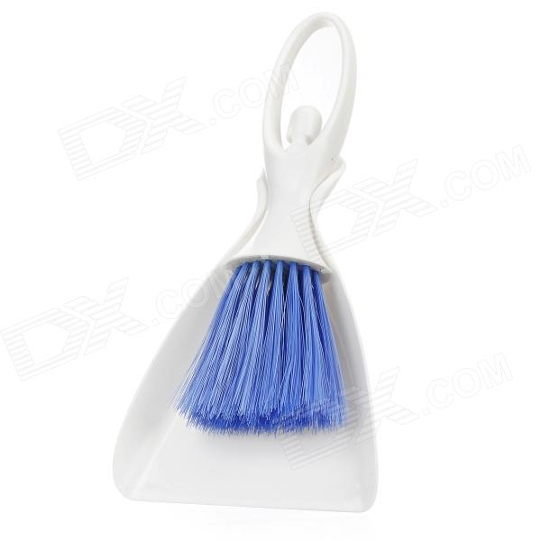 Car Air Outlet Vent Cleaning Brush w/ Dustpan - Blue + White