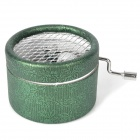 Mini Hand-Cranked Music Box - Dark Green