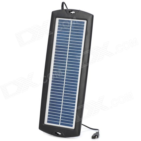 3W Solar Power Panel Auto Car Battery Charger - Black