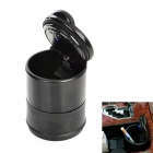 Blue LED Light Auto Car Cigarette Smokeless Ashtray - Black