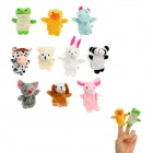 Cute Dolls Animais Figura fantoches de dedo Plush Toys (10 PCS)
