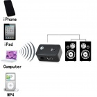 BT-AU01 Bluetooth V2.0 Stereo Receiver Adapter for Speaker - Black