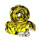 Cycling Bike Bicycle Handlebar Tape Belt Wrap w/ Bar Plug - Yellow Camouflage (2 PCS)