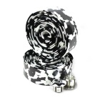 Cycling Bike Bicycle Handlebar Tape Belt Wrap w/ Bar Plug - Black + White (2 PCS)