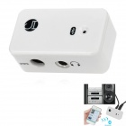 BT-AU01 Wireless Bluetooth V2.0 Stereo Receiver Adapter for Car Home Speaker - White