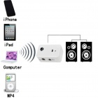 BT-AU01 Wireless Bluetooth V2.0 Adaptador de receptor estéreo para alto-falante de carro - Branco