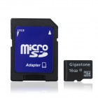 Gigastone Micro SDHC / TF Card w / SD Adapter - Schwarz (16GB / Class 10)