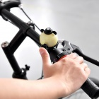 Hamster Cartoon Style Aluminum Alloy Bicycle Bell - Yellow + White