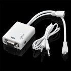 Micro USB to VGA + Audio MHL Adapter Cable for Samsung + HTC - White